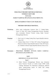 Peraturan Presiden No.08 Tahun 2008 - BNPB