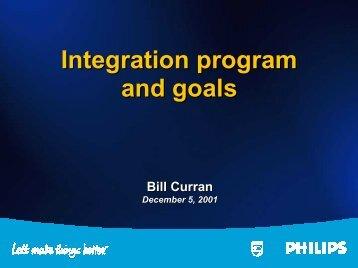 Integration program and goals