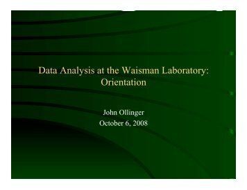 Orientation for new lab members. October 2008 - Waisman ...
