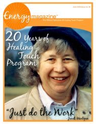 June 2009: 20 Years of Healing Touch Program - Energy Magazine