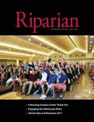 The Riparian - Fall 2011 - The Rivers School