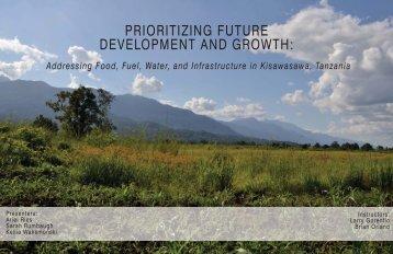 prioritizing future development and growth - Stuckeman
