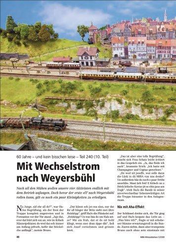Mit Wechselstrom nach Weyersbühl - Weyersbuehl