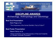 DISCIPLINE AWARDS