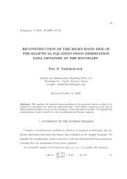 Reconstruction of the right-hand side of the elliptical equation from ...