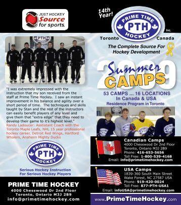 2009 Summer Brochure - Prime Time Hockey