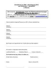 Anmeldung zur DKF- Jahrestagung 2013 vom 30.05.2013 – 02.06 ...