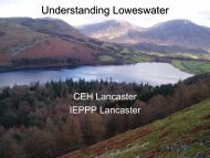Understanding pollution in Loweswater: the diverse logics and ...