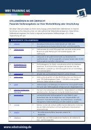 wichtigsten Jobbörsen - WBS Training AG