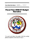 Fiscal Year 2007 Budget Narrative - City of West Palm Beach - Page 2