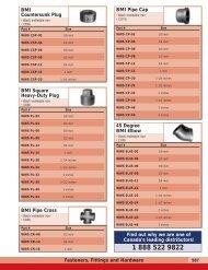 Fasteners, Fittings and Hardware BMI Countersunk Plug BMI Pipe ...