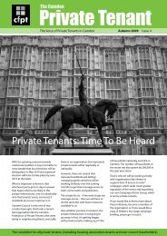 Autumn Issue - Camden Federation of Private Tenants