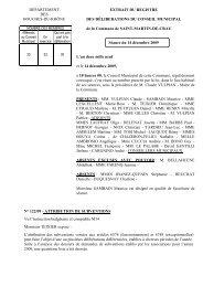 attribution de subventions - Ville de Saint-Martin-de-Crau