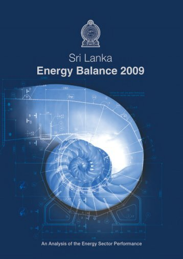 National Energy Balances year 2009 - Sri Lanka Sustainable ...