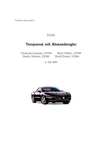 Tempomat mit Abstandsregler - sandro-schwarz.com