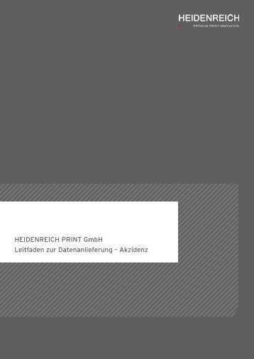 Akzidenz - Heidenreich Print Gmbh