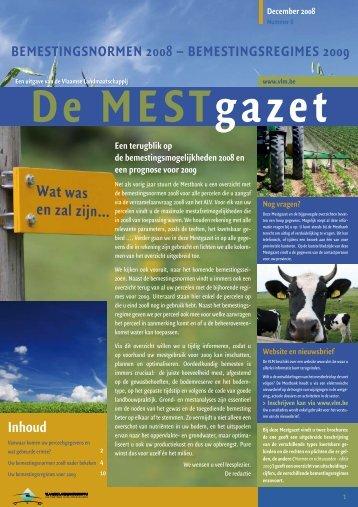 Mestgazet 6 - Bemestingsnormen 2008 - Vlaamse Landmaatschappij