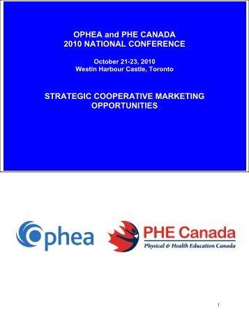 strategic cooperative marketing program - PHE Canada