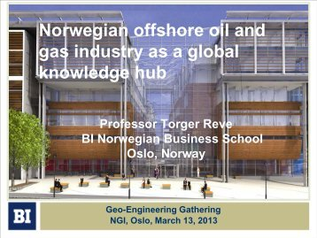 Norwegian offshore oil and gas industry as a global ... - NGI