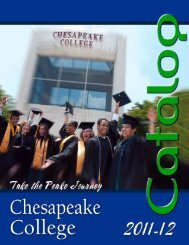 Academic Calendar 2011-2012 - Chesapeake College