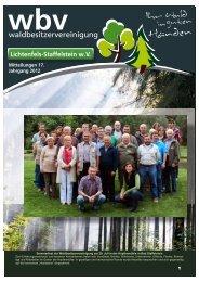 (eV) in einen wirtschaftlichen Verein - Waldbesitzervereinigung ...