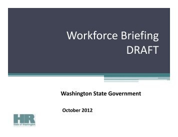 Workforce Briefing Agency Template - Washington State Department ...