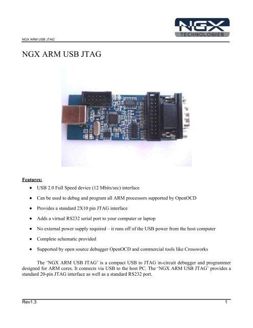 NGX ARM USB JTAG