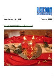 Newsletter Februar 2008 - Plattform sexuelle Bildung