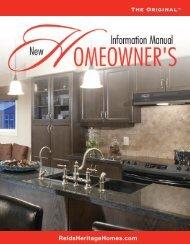 New Homeowners Information Manual - Reid's Heritage Homes