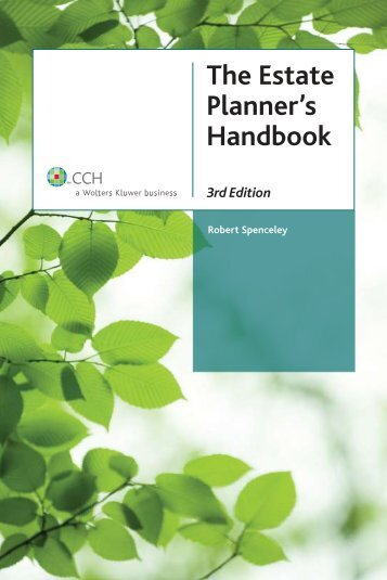 The Estate Planner's Handbook, 3rd Edition - CCH Canadian