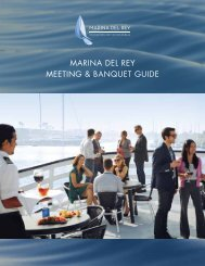 Meetings and Banquets Guide - Marina del Rey