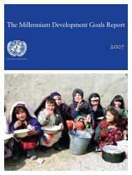 Millennium Development Goals Report 2007