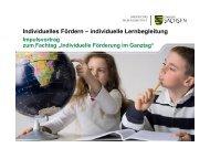 Individuelles Fördern – individuelle Lernbegleitung - Sachsen