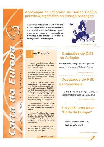 Deputados do PSD na Venezuela Emissões de ... - Carlos Coelho