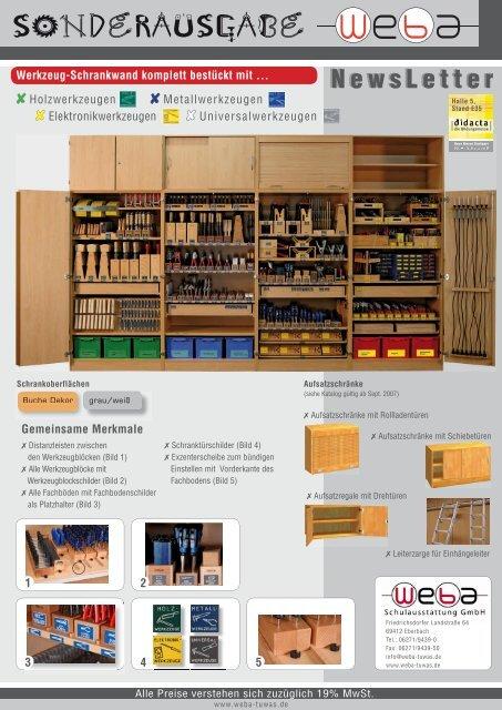 Didacta Newsletter Schränke 4 Seiter 090208.indd - WeBa