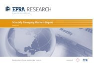 Monthly Emerging Markets Report - EPRA