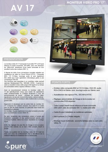 MONITEUR VIDEO PRO 17''