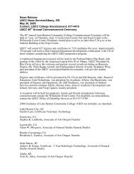 News Release LBCC News Service/Albany, OR May 30, 2008 ...