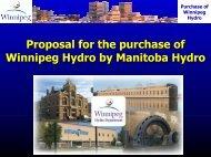 Purchase of Winnipeg Hydro - City of Winnipeg