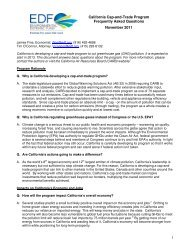 Cap-and-Trade Program - Environmental Defense Fund