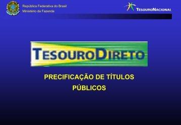 Precificação de Títulos Públicos