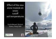 Effect of the new snow module on snow runoff soil ... - JULES