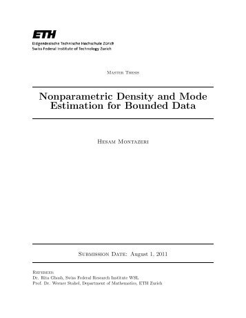 Nonparametric Density and Mode Estimation for Bounded ... - RiskLab