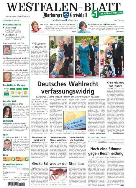 im Westfalen Lokalausgaben Ihre BlatteZeitung Warburg XuiZPkO