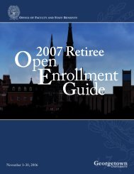 2007 Retiree OE Guide (pdf) - Georgetown University
