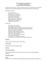 February 20 (Regular Meeting) - Pitt County Government