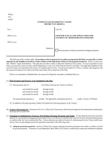 Model Plan Form 13-2 - United States Bankruptcy Court - District of ...