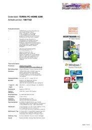 TERRA PC-HOME 5200 Artikelnummer: 1001142 - weiherNET.de