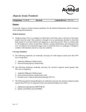 Alopecia Areata Treatment - AvMed