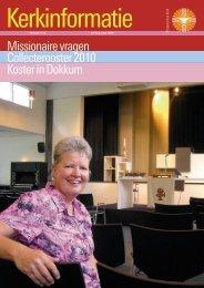 Missionaire vragen Collecterooster 2010 Koster in Dokkum